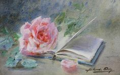 BLANCHE ODIN Gouache, Watercolor Paintings, Watercolors, Rose Paintings, Flower Art, Still Life, 3 D, Drawings, Image