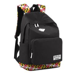 Whether you're a student or long out of school, a good book bag is essential! This one features a Maryland flag outline that is sure to make it stand out in your closet. School Readiness, Black Books, Outline, Good Books, Traveling By Yourself, Flag, Backpacks, Maryland School, Duffle Bags