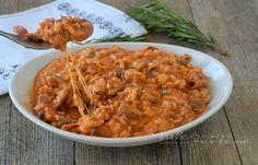 Risotto funghi e mozzarella, una ricetta per un primo piatto facile, filante e…