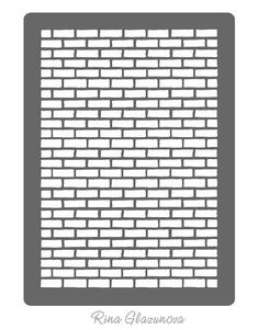 Brick Wall Stencil SVG on Craftsuprint designed by Ekaterina Glazunova - Can be used as mask, overlay, stencil or template. - Now available for download!