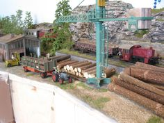 Lumber Mill, Model Train Layouts, Model Trains, Pergola, Outdoor Structures, Models, Cars, Miniature, Model Building