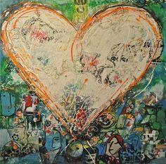 Written heart by Wilma Veen