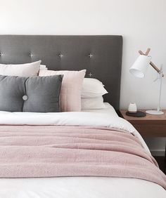 Another shot of a guest bedroom I recently installed for a client. Blush and grey, we have all seen it...but damn it's a good combo.
