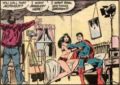 Top 10 Worst Moments in DC Comics, Superman Makes a Porno Film - Big Barda was a rough and tough heroine who wore the proverbial pants in her relationship with Mister Miracle.  She was fiercely loyal and protective of her husband.    superman-porn    However, in John Byrne's otherwise stellar run on Action Comics, she was hypnotized and forced into doing a porno by a villain appropriately known as Sleez.  Her partner?  None other than the Man of Steel himself.