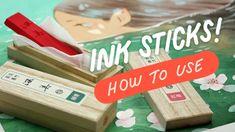 Testing Saiboku Shimbi ink sticks - YouTube Water Background, Watercolor Techniques, Art Tips, Sticks, The Creator, Ink, Youtube, Toolbox, Watercolour