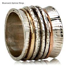 Sterling Silver Ring for woman spinner rings silver gold all sizes Meditation #Bluenoemi #Spinner
