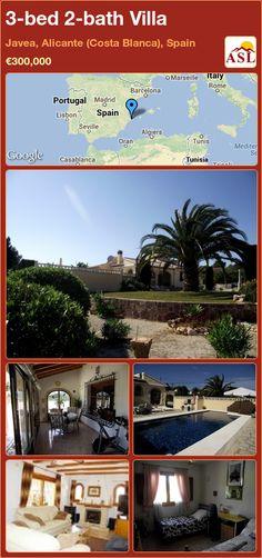 3-bed 2-bath Villa in Javea, Alicante (Costa Blanca), Spain ►€300,000 #PropertyForSaleInSpain