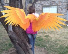 OOAK Fiery Phoenix Cosplay Wings