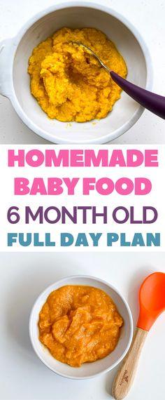 Simple 6 Month Old Meal Plan. #mealplan #babyfood #babypuree #babyrecipe #nutritiontips