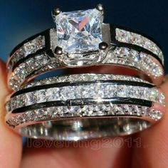 Shop Women's size 5 Rings at a discounted price at Poshmark. Sold by Fast delivery, full service customer support. Platinum Wedding Rings, Diamond Wedding Sets, Wedding Bands, Lab Created Diamond Rings, Lab Created Diamonds, Sterling Silver Diamond Rings, Diamond Jewelry, Jewelry Rings, Fake Engagement Rings