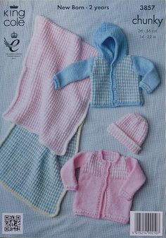 K3857 Babies Checked Outdoor Outfits by KnittingPatterns4U on Etsy