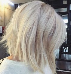 """7,188 Likes, 216 Comments - behindthechair.com (@behindthechair_com) on Instagram: """"Wow! Progressive cut and stunning color! @voguehair #behindthechair #platinum"""""""