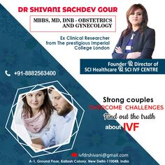 Strong couples overcome challenges, find out the truth about IVF. Shivani Sachdev Gour to know more about IVF treatment. Call now! Art Fertility, Fertility Center, Ivf Treatment, Infertility Treatment, Strong Couples, Imperial College, Obstetrics And Gynaecology, Thing 1, Doctors