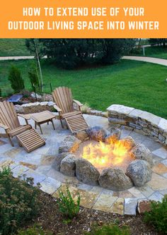 Extend the use of your beautiful outdoor space well into wintertime with a beautifully hardscaped fire feature.