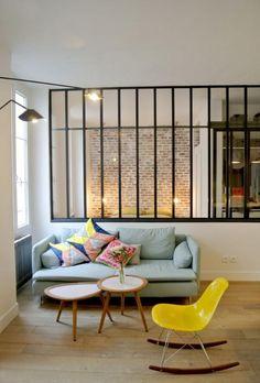 briques de parement, parement briques et fenêtre style atelier
