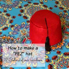 DIY FEZ HAT: @colorsofourrainbow.blogspot.ae