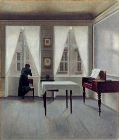 Vilhelm Hammershøi, 'Interior, Strandgade 30', 1901. Collection Niedersächsisches Landesmuseum, Hannover, Germany.
