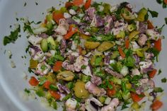 I love octopus! Actually, I love all seafood, but octopus was always a special treat when my dad prepared it, Puerto Rican style. Puerto Ricans enjoy a bounty of seafood thanks to their island lo… Sea Food Salad Recipes, Seafood Recipes, Appetizer Recipes, Cooking Recipes, Healthy Recipes, Appetizers, Puerto Rican Dishes, Puerto Rican Recipes, Cuban Recipes