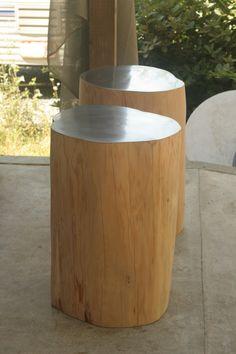 Zinc Clad Cypress Tables by Brad Wilson.