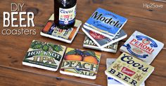 DIY Beer Coasters (Father's Day Gift Idea) – Hip2Save                                                                                                                                                                                 More