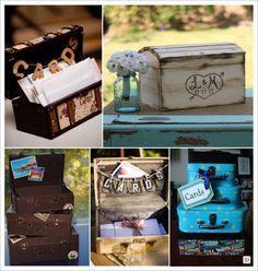 urne mariage coffre valise tirelire mariés