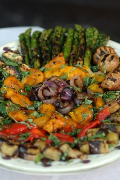 Beautiful, grilled vegetable platter.