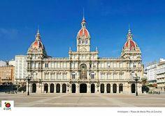 A  Coruña. Plaza de Maria Pita. Consistorio