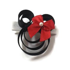 Minnie Mouse Inspired Hair Clip Girl Mouse Hair by CJFollowell $5