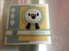 We adore this sweet little lamb punch art card made by Emilie Mercier.