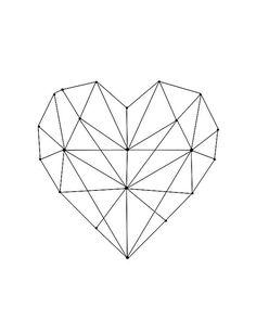 69 super Ideas for tattoo geometric heart patterns Geometric Drawing, Geometric Heart Tattoo, Geometric Sleeve, Geometric Wall Art, Contemporary Wall Art, Heart Patterns, Geometric Designs, Geometric Shapes, Geometric Animal