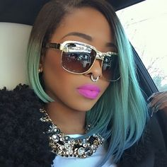 Beautiful bob style with ombre color.