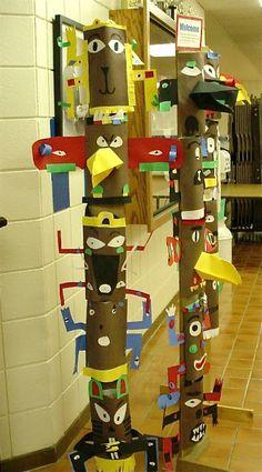 Totem poles: 3rd grade