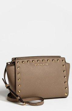 f6b81752baaa MICHAEL Michael Kors Selma - Stud Saffiano Leather Crossbody Michael Kors  Handbags Outlet, Cheap Michael