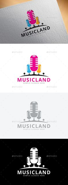 Great example of what to consider when creating a #logo : What happens when you take out the color? But they didn't consider scale. Music Land Logo