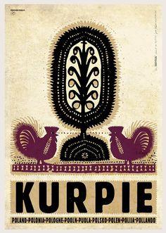 Kurpie Polish traditional folk cut-out Check also other posters from PLAKAT-POLSKA series Original Polish poster designer: Ryszard Kaja year: 2014 size: