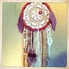 #dreamcatcher #white #rachaelrice #cosmicamerican #etsy