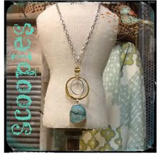 "Aqua sugar Druzy 30""  follow Scooples Jewelry on Instagram @cfrenchscooplesjewelry.  Contact us at 870-739-8424."