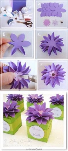Discover thousands of images about como fazer flores de papel para festas passo a passo Paper Flowers Diy, Handmade Flowers, Felt Flowers, Flower Crafts, Diy Paper, Paper Crafting, Fabric Flowers, Craft Flowers, Flower Diy