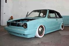 VW rabbit convertible / golf cabrio With All White Tires! Volkswagen Golf Mk1, Vw Mk1, Scirocco Volkswagen, Vw Passat, Golf 1 Cabriolet, Convertible, Jetta A2, Street Racing Cars, Golf 2