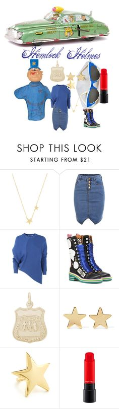 """HEMLOCK HOLMES"" by michelle858 ❤ liked on Polyvore featuring Gorjana, STELLA McCARTNEY, Maison Margiela, Rembrandt Charms, Jennifer Meyer Jewelry, Kenneth Jay Lane, POLICE and MAC Cosmetics"