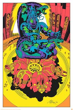 Jack Kirby unused art for Zelazny's Lord of Light (but which was actually used for an undercover CIA mission--not making this up) 1978