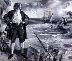 Alexander Selkirk: the Real Life Robinson Crusoe (Original) (Signed) by Paul Rainer at The Illustration Art Gallery