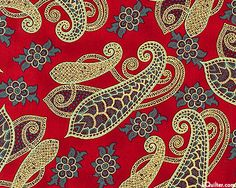 Dancing Arabesque from the Kashmir collection from Hoffman Fabrics...quilting cotton