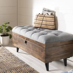 Three Posts Union City Tufted Storage Ottoman & Reviews | Wayfair