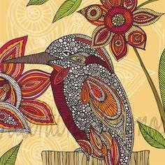 Dean the bird Print by valentinadesign on Etsy