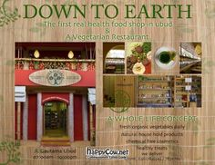 Earth Cafe Health food book shop and amazing restaurant one of my favourites in Ubud