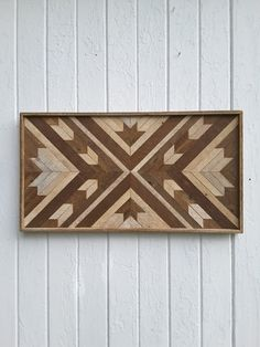 Reclaimed Wood Wall Art Decor Maple Leaf Chevron by PastReclaimed