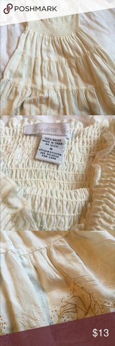 Cream white floral bottom shirt Cream Top . Sleeveless Charlotte Russe Tops