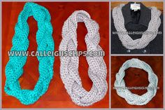 Calleigh's Clips & Crochet Creations: Free Crochet Pattern - Chunky Braided Cowl