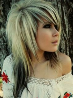 curly+blonde+and+black+hair+emo   blonde and brown emo hair2010 Blonde Emo Hair Styles Makeup Tips And ...
